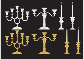 Gold and Silver Candlesticks vector