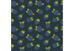Free Black Berry Pattern Vektor