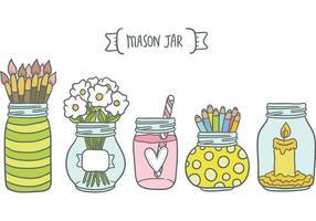 Gratis Mason Jar Vectors