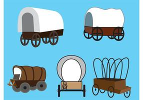 Vector Covered Wagons