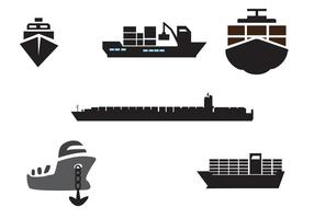 Container Ship Vectors