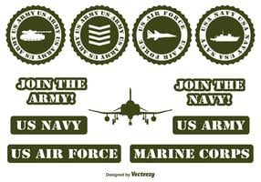 Military Vector Elements