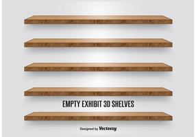 Houten Display Shelves