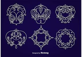 Emblems Ornaments vector