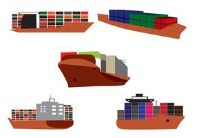 Navio Container Vector