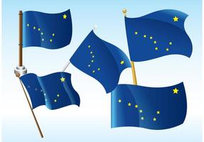 Vecteurs de drapeau de l'Alaska