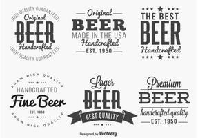 Étiquettes / insignes modifiées pour la bière