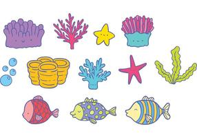 Gratis Coral Reef Fish Vector