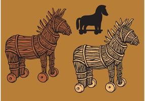 Trojanische Pferde Vektoren