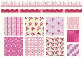 Shabby Chic Rose Patterns  vector