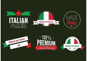 Vetores de crachá italianos