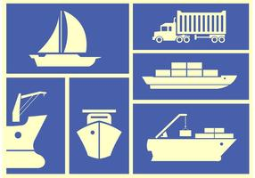 Containerschiff-Vektoren