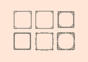 Vintage frames vectoren