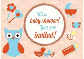 Vector Vectoren voor Baby Shower