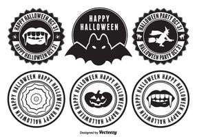 Insignias de Halloween vector