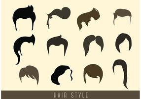 Stijlvolle Hair Style Vectors