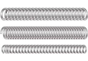 Vectores de primavera de bobina de plata
