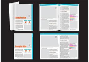 Financial Magazine Layout Template