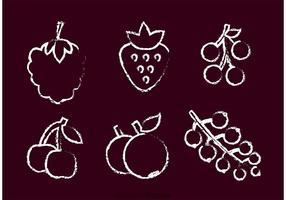 Tiza dibujado Vector Berry
