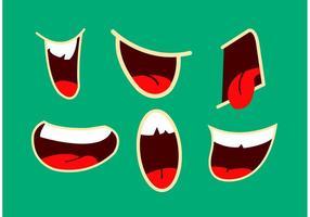 Vectores de la boca hablando