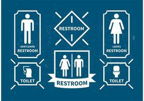 Iconos del vector del cuarto de baño