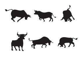 Paquete de toros vectoriales gratis vector