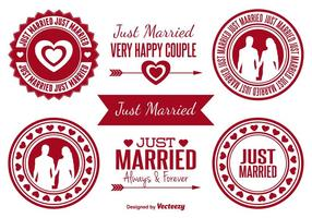 Just Married Badges vector
