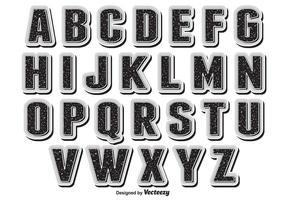 Alfabeto retro del vector del estilo