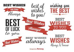Best Wishes Typographic Labels