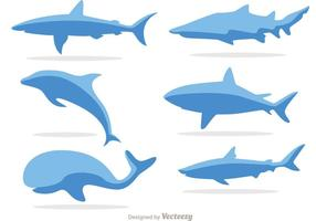 Simples vectores de la vida marina