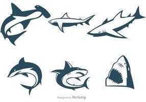 Coleção de vetores de tubarão