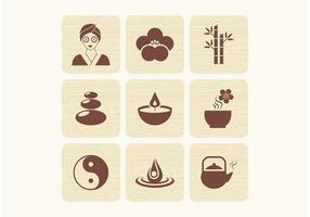 Libere los iconos del vector del zen