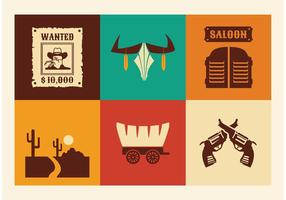 Vecteur libre wild west icons