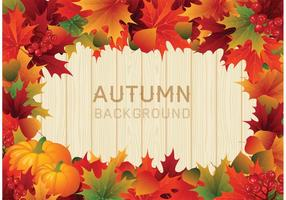 Vector Colorful Autumn Leaves Border