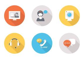 Flat Live Chat Vector Icons