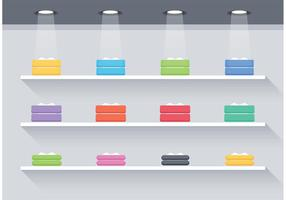 Free Flat 3D Shelves Vector