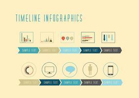 Tidslinje Infografiska vektorer