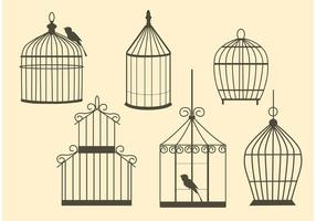 Free Vector Vintage Bird Cages