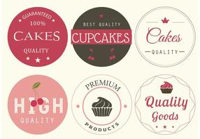 Vector Bakery Labels