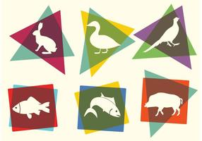Free Bright Animal Silhouettes