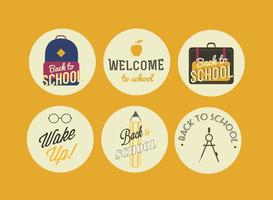 Vector Back to School Badges
