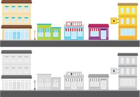 Outdoor Shops Vector