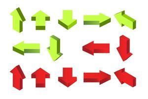 3D vector flechas