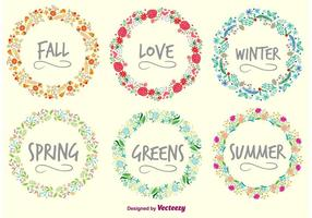 Seasons Wreaths vector