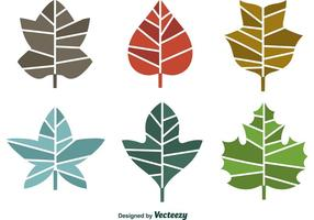 Seasonal Geometric Leaves vector