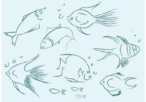 Gratis Vector Fish Sketches