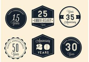 Vector Anniversary Signs