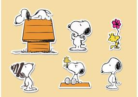 Snoopy Sticker Vectors