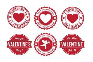 Valentine's Day Badges vector