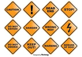 Caution Vector Signs